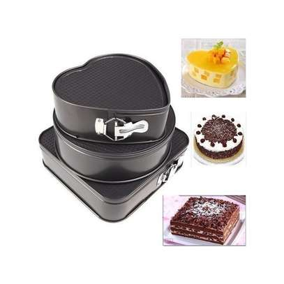 3pcs Non Stick Cake Trays image 3