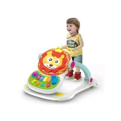 Huanger 4 in 1 Multifunctional Baby Walker-Multicolor plus free gift image 3