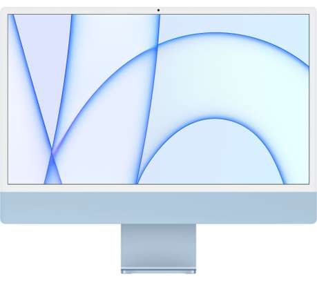 Apple IMAC M1 chip with 8‑core CPU and 7‑core GPU, 256GB 24-inch with Retina 4.5K display MJV93AB/A Blue image 1