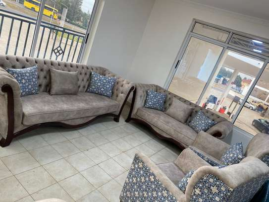 7Seater Deep Buttoned Sofa image 1