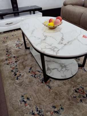 Oval shaped coffee table image 1