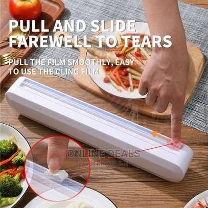 Kitchen Cling Foil/Film Food Wrap Cutter Dispenser image 1