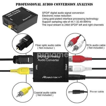 Digital to analog audio converter adapter  Optical to rca audio converter image 1