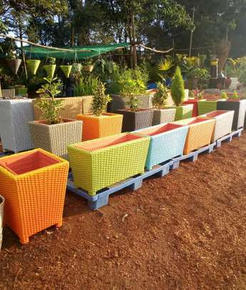 Rattan Outdoor Planters image 2