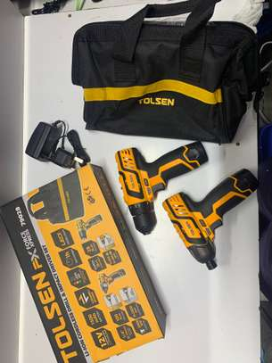 Tolsen 12V cordless drill with impact driver pack image 2