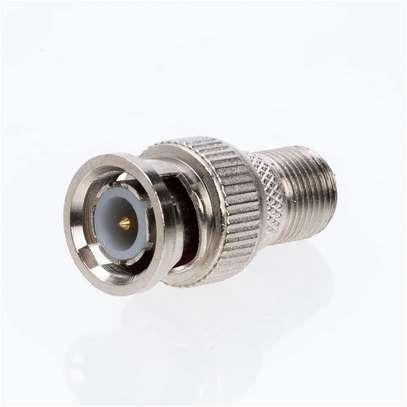 RF Adapter BNC Male Plug to F Female Jack Coax Adapter image 1