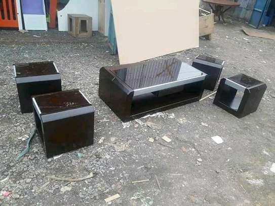 Stylish Modern Quality Coffee Table + 4 stools image 1