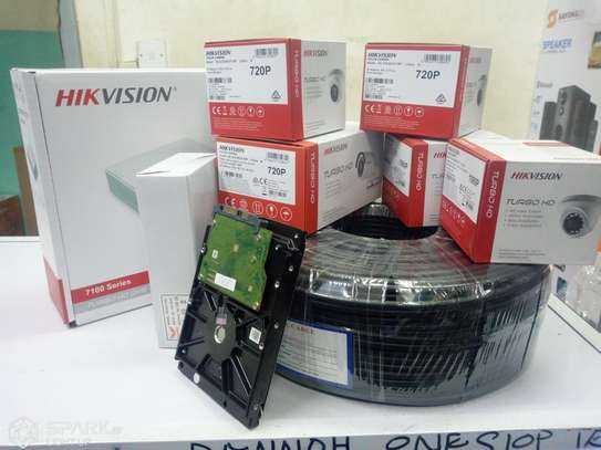 Hikvision 4 CCTV CAMERA FULL PACKAGE 1.3 MP With Night Vision image 2