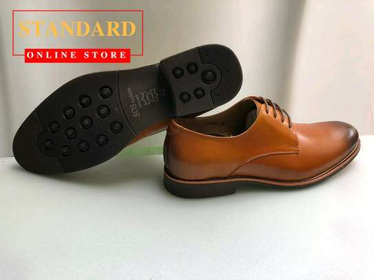 Brown italian oxforts with rubber sole