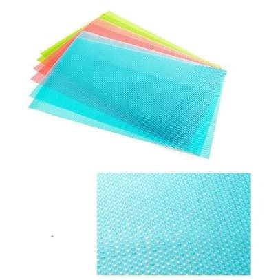 4 Piece Multifunction Refrigerator Mat Fridge Anti-fouling Anti Frost Waterproof Pad - Assorted colours - One size image 2