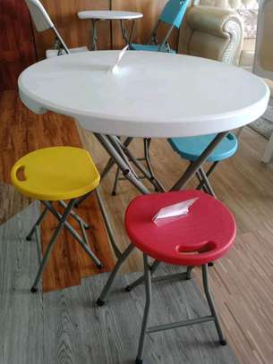 foldable round table on offer