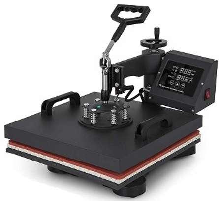 "Digital Multifunctional Heat Press Machine 12"" x 10"" Heat Transfer Machine for T Shirts Hat Mug Cap Plate (5in1) image 1"