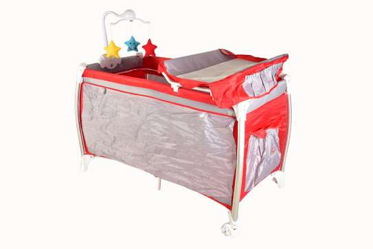 Baby beds / Playpen baby crib with changing table and overhead toys image 1