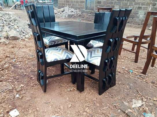 Black 4 Seater Dining Table sets image 6