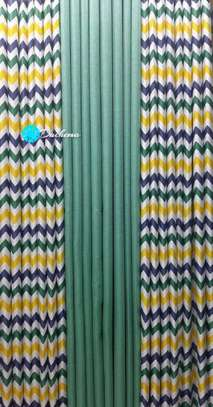 Turquoise blue double sided curtains image 1