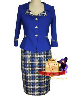 Ladies Contrast Skirt Suit From UK.