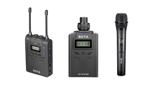 Boya BY-WM8-K4 Wireless Two-Channel Radio System (Kit BY-WM8R + BY-WXLR8 + BY-WHM8) image 1