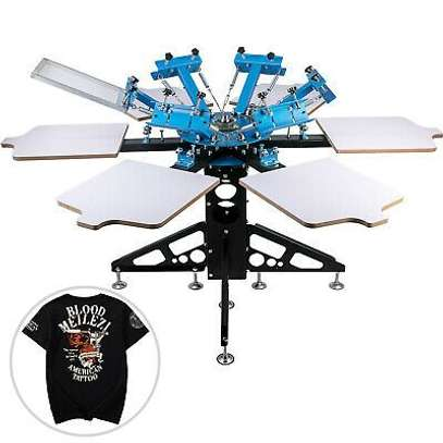 Full 6 Color 6 Station Screen Printing Machine. image 1