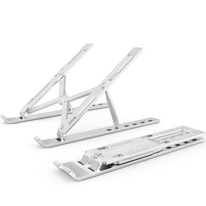 Adjustable Laptop Stand For Desk, Portable Laptop Stand, Aluminum Ventilated Computer Laptop Holder Riser For MacBook Air Pro Accessories, Ipad Tablet Stand,7 Height,10-15.6'' Notebook And Tablet image 2