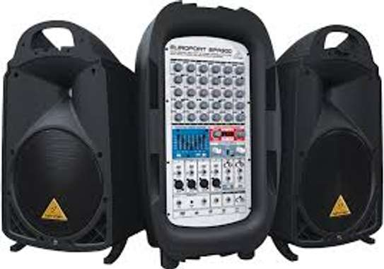 Behringer EUROPORT EPA900 Ultra-Compact 900-Watt 8-Channel Portable PA System image 1