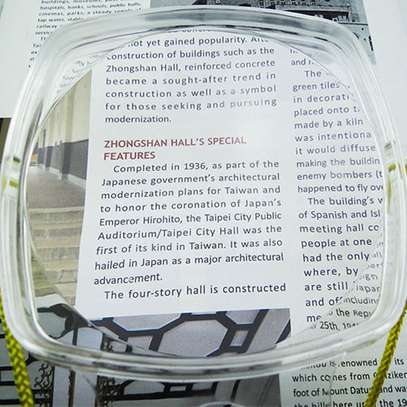 2 in 1 Hands Free Chest Rest Big rectangular Clear Magnifying Glass image 5
