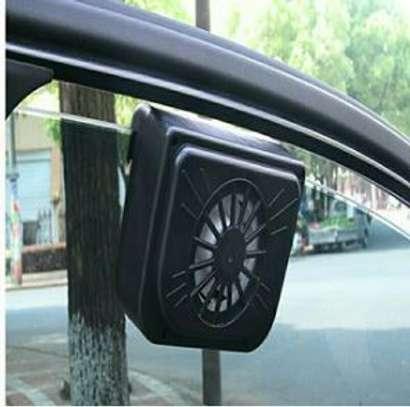 Car solar cooler fan image 1