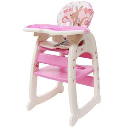 Convertible Baby High Chair/ Feeding Chair - Pink image 1