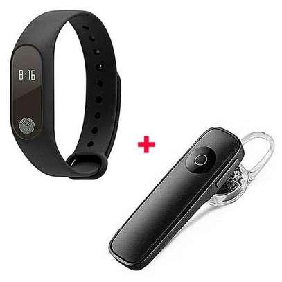 M2 New Smart Health Wrist Bracelet Heart Rate Monitor Free Bluetooth -Black image 1
