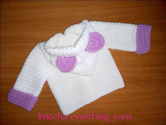 Crochet hooded coat image 3