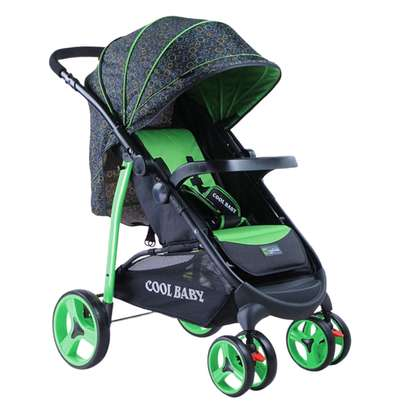 Foldable Baby Stroller- Black and Green