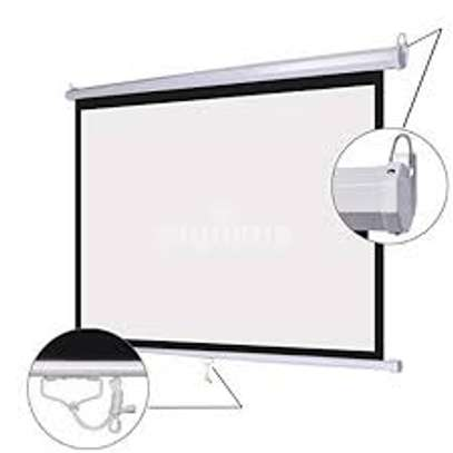 Manual Wall-mount 96' X 96' Projection Screen image 2