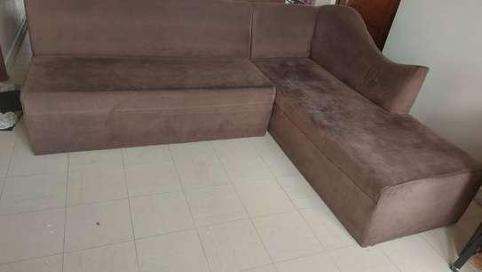 Grey sofa in Suede