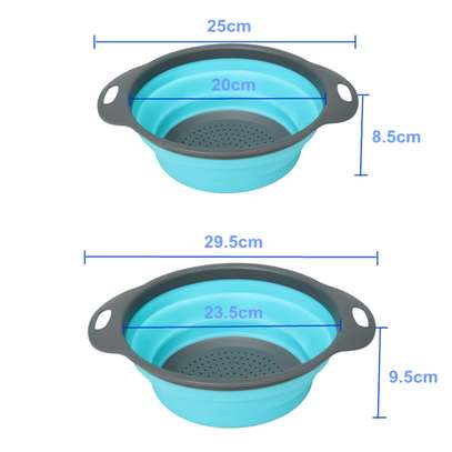 Foldable silicone colander image 4