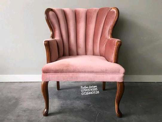 One seater sofa/pink couch/accent chairs/single seater sofa image 1