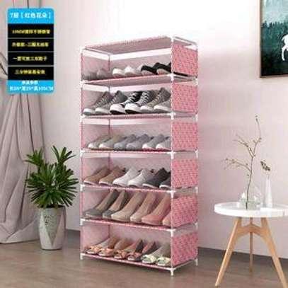 portable foldable shoes rack ,dusk proof image 1