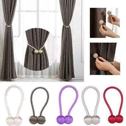 Magnetic curtain holder image 1