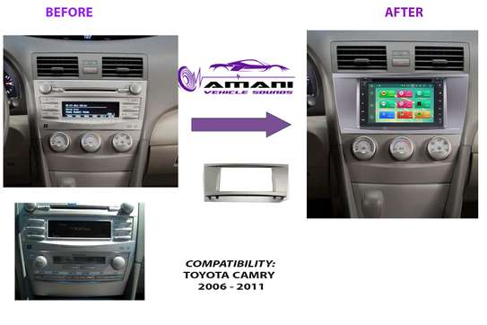 Double Din Stereo Fascia Panel For Toyota Camry/Aurion Year 2006 To 2011 image 2