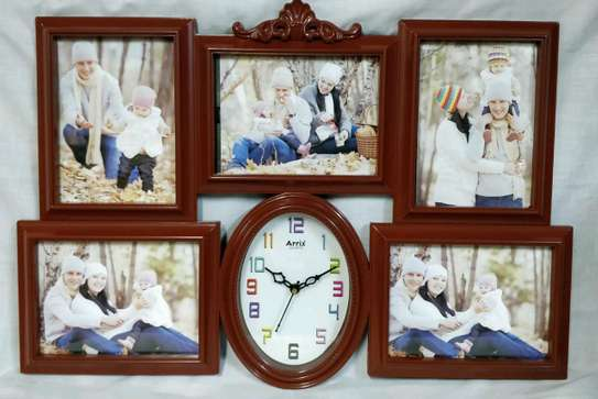 Unique Wall frame with a wall clock