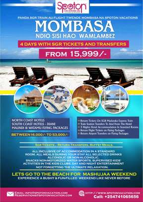 4 DAYS 3 NIGHTS MOMBASA SGR PAACKAGE