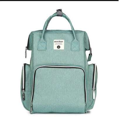 Portable Baby Diaper Bag for Travel - Light Green (cyan) image 2