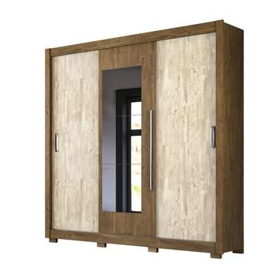 Wardrobe with 3 Sliding Doors - Moval Montreal - Brown Hazelnut image 1
