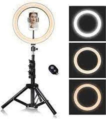 Live Streaming Desktop Dimmable 10 Inch LED Ring Light image 1