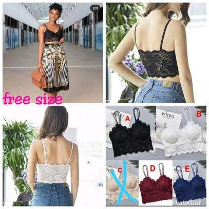 New Fancy free size ladies lace bras image 2