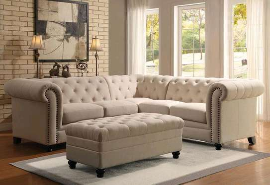 Modern L shaped sofas/five seater sofas image 1