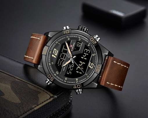 Naviforce NF9128 Top Brand Men Fashion Sport Leather  Watch image 4