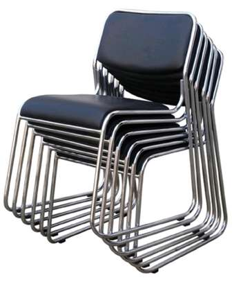 Stackable visitors chair without arms image 1