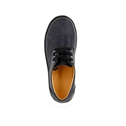 Black Leather School Shoes For Boys image 2