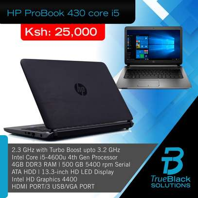 HP Probook 430 ,core i5 , 4GB RAM, 500GB HDD, 15.6″ HD screen image 1
