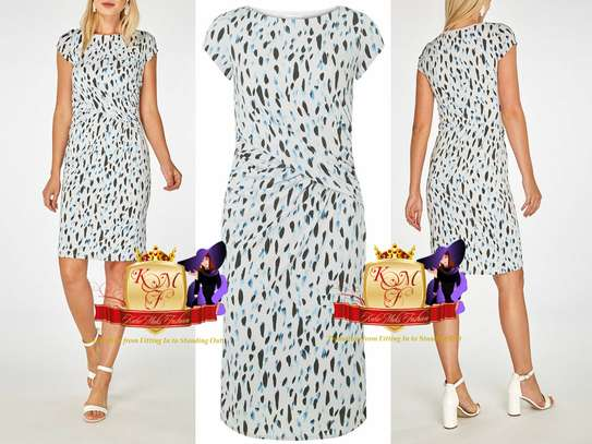 Lily and Franc grey brush stroke printed dress
