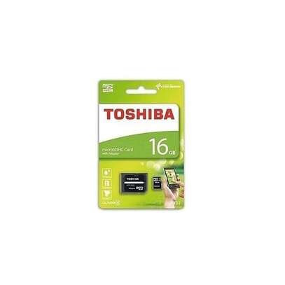 Toshiba High Quality Micro SD Memory Card 16GB Capacity - Black